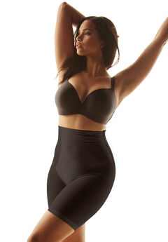 Long leg shaper by Secret Solutions® Curvewear, BLACK, hi-res