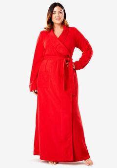 Microfleece Wrap Robe by Dreams & Co.®, , hi-res