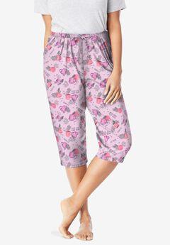 Knit Sleep Capri by Dreams & Co.®, PINK COFFEE