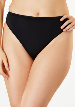Microfiber Thong by Comfort Choice®, BLACK