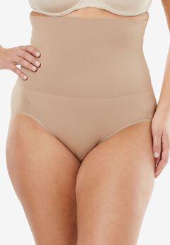 Seamless High Waist Brief by Secret Solutions® Curvewear,