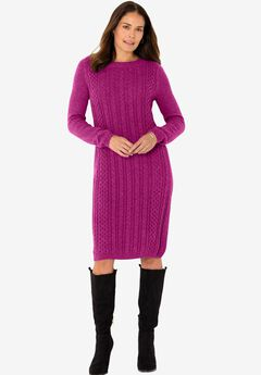 Cable Knit Sweater Dress,
