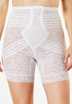 Jacquard Lace Shaping Shorts by Rago®, WHITE, hi-res