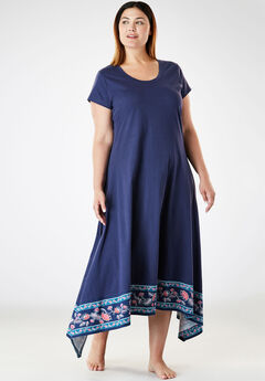 Trapeze Wide-Sweep Nightgown by Dreams & Co.®,