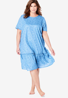 Cool Dreams Peplum Sleep Shirt by Dreams & Co.®,