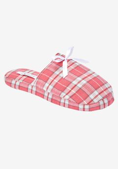 Flannel slipper by Dreams & Co.®, BEGONIA PLAID, hi-res