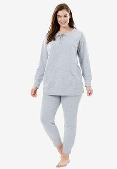 Sweatshirt Lounge Set by Dreams & Co®, HEATHER GREY, hi-res
