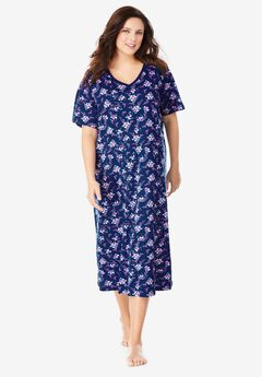 Long Print Sleepshirt by Dreams & Co.®, EVENING BLUE FLORAL