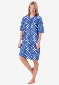 Print Sleepshirt by Dreams & Co.®, CORNFLOWER BLUE CAT