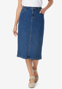 Stretch Jean Skirt,