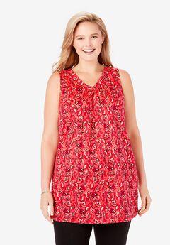 Perfect Printed Sleeveless Tunic,