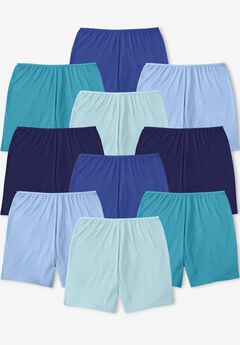 Comfort Choice® 10-Pack Cotton Boyshort, BLUE MULTI PACK