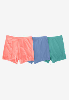 3-Pack Breathable Boyshorts by Comfort Choice, MIDTONE PACK, hi-res