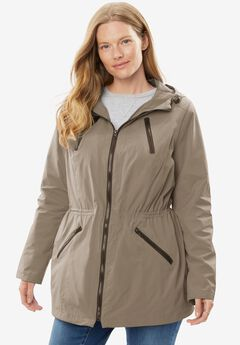 Lightweight Hooded Taslon® Anorak with Mesh Lining,