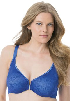 Front-Hook Underwire Back-Smoothing Bra by Amoureuse®, DARK SAPPHIRE, hi-res