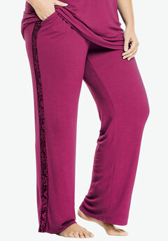 Lunar Lace Wide-Leg Pants, BRIGHT BERRY, hi-res