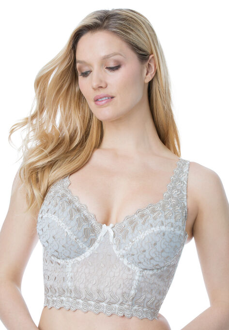 755e9bfae9d00 Embroidered Longline Underwire Bra by Amoureuse®