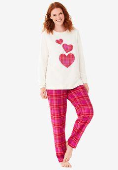Fleece Sweatshirt Pajama Set ,