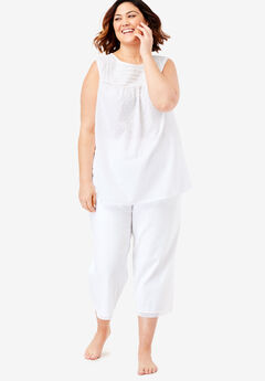 Swiss Dot Capri PJ Set by Dreams & Co.®,
