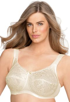 Wireless allover lace bra by Aviana® , CANDLE LIGHT
