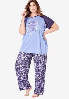 24b167b61 Cool Dreams Baseball Tee Pajama Set by Dreams & Co.®