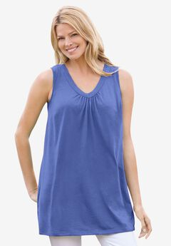 Perfect V-Neck Sleeveless Tunic,