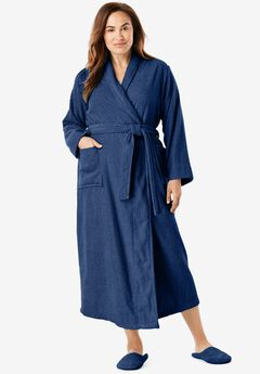 Long Terry Robe by Dreams & Co®, EVENING BLUE