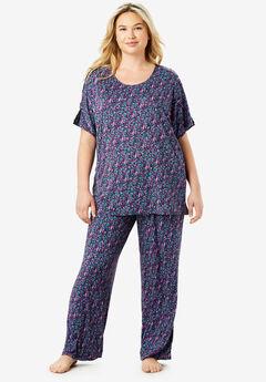 Touch of Lace Cold-Shoulder PJ Set by Dreams & Co.®,