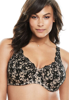 Embroidered Underwire Bra ,