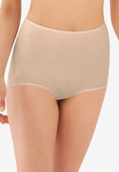 Cool cotton shaping stretch brief by Bali®, MOCHA MIST, hi-res