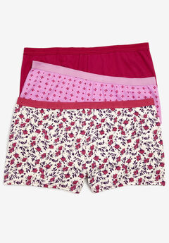 3-Pack Boyshort by Comfort Choice®, VANILLA FLORAL PACK