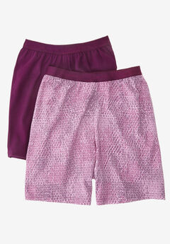 2-pack cooling boxers by Comfort Choice®, ORCHID PINK GEO PACK, hi-res