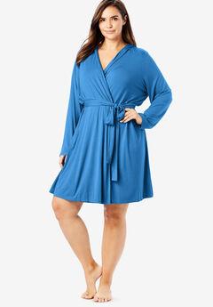 Short Hooded Robe by Dreams & Co.®, CORNFLOWER BLUE