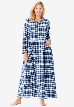Flannel Plaid Lounger by Only Necessities®, EVENING BLUE PLAID