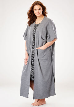 Supersoft Thermal Robe by Dreams & Co.®, MEDIUM HEATHER GREY, hi-res