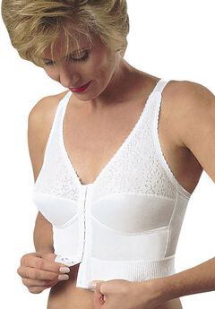 Mastectomy Choice Plus Longline Bra by Jodee , WHITE