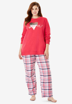 Fleece Sweatshirt   Pant Pajama Set by Dreams   Co.® 8340f1b5e