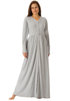Long Knit Lounger by Only Necessities®, HEATHER GREY, hi-res