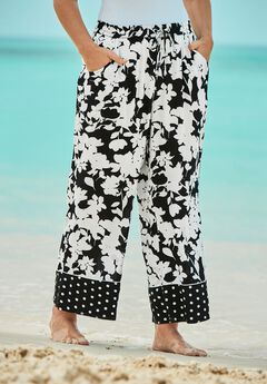 Wide-Leg Pant Swim Cover-Up Pant,