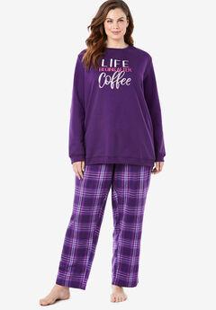 Fleece Sweatshirt Pajama Set by Dreams & Co.®,