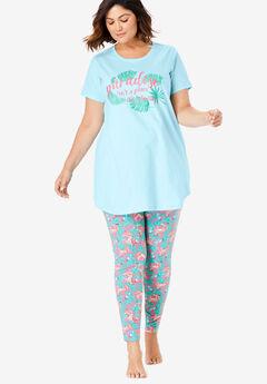 Graphic Tunic PJ Set,