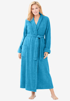 Long Terry Robe , PARADISE BLUE