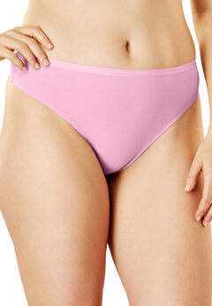 Thong Panty By Comfort Choice®, LIGHT PINK, hi-res