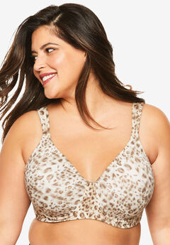 Leading Lady® Brigitte Full Coverage Seamless Underwire Bra #5028, WATERCOLOR LEOPARD
