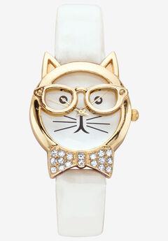 Cat Watch Round Crystal by PalmBeach Jewelry,