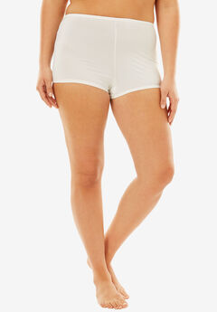 Stretch Microfiber Boyshort By Comfort Choice®, WHITE, hi-res