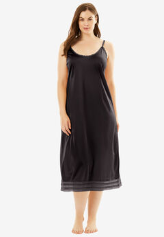 Snip-to-Fit Dress Liner by Comfort Choice®, BLACK, hi-res