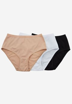 3-Pack Stretch Cotton Full-Cut Brief by Comfort Choice®,