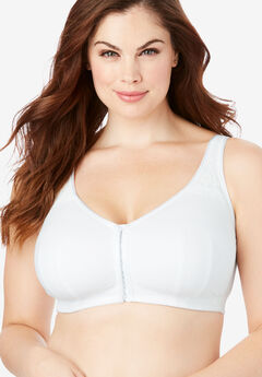 Cotton Comfort Wireless Front-Hook Bra by Comfort Choice®,