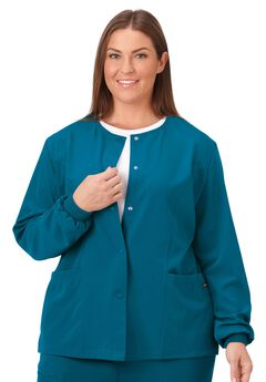 Jockey Scrubs Women's Snap to it Warm-Up Jacket,